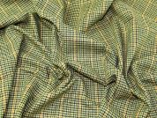 Lady McElroy Check Wool Suiting Fabric  Green Multi
