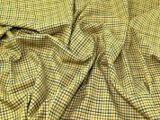 Lady McElroy Check Wool Suiting Fabric  Yellow