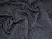 Lady McElroy Quilted Ponte Roma Knit Fabric  Black