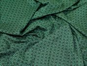 Lady McElroy Viscose Jersey Knit Fabric  Black & Green