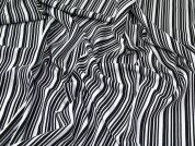 Lady McElroy Stretch Crepe Fabric  Black & White