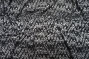 Lady McElroy Textured Knit Fabric  Black & White