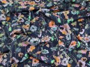 Lady McElroy Watercolours 100% Cotton Lawn Dress Fabric  Marine