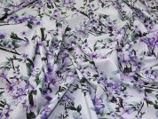 Lady McElroy Cotton Lawn Fabric  Lilac