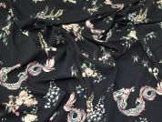 Lady McElroy Lena Microfibre Crepe Fabric  Black