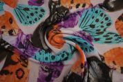 Lady McElroy Crinkle Chiffon Fabric  Multicoloured