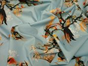 Lady McElroy Birds of Paradise Cotton Poplin Dress Fabric