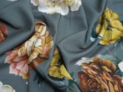 Lady McElroy Camellia Embers Stretch Viscose Dress Fabric