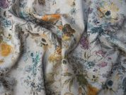 Lady McElroy Chalford Linen & Viscose Dress Fabric  Natural