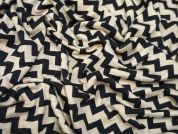 Lady McElroy Champagne Chevron Viscose Stretch Jersey Knit Dress Fabric