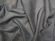 Lady McElroy Charcoal Diamante Silk Voile Dress Fabric
