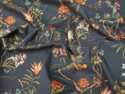 Lady McElroy Charcoal Dream Cotton Poplin Dress Fabric