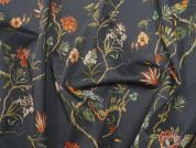 Lady McElroy Charcoal Dream Stretch Cotton Dress Fabric