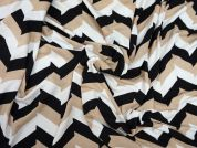 Lady McElroy Chevron Trio Viscose Stretch Jersey Knit Dress Fabric
