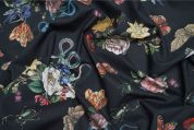 Lady McElroy Viscose Challis Fabric  Black