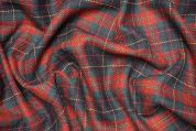 Lady McElroy Wool Tweed Coating Fabric  Red