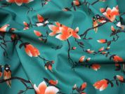 Lady McElroy Flora Songbird Cotton Poplin Dress Fabric  Jade