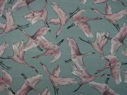 Lady McElroy Flying Flock Cotton Lawn Dress Fabric  Smoke