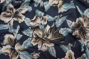 Lady McElroy Lena Microfibre Crepe Fabric  Navy