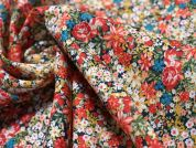 Lady McElroy Lobelia Bloom Cotton Twill Dress Fabric