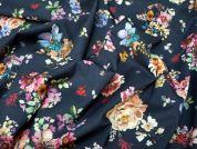 Lady McElroy Midnight Bouquet Cotton Lawn Dress Fabric