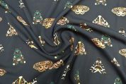Lady McElroy Viscose Challis Fabric  Midnight