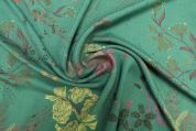 Lady McElroy Viscose Challis Fabric  Teal