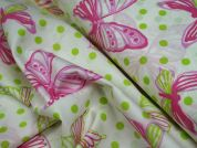 Lady McElroy Pink Admiral Cotton Poplin Dress Fabric