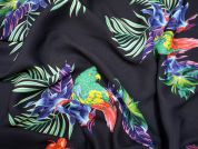 Lady McElroy Rainbow Lorikeet Polyester Georgette Dress Fabric