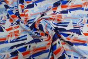 Lady McElroy Cotton Poplin Fabric  Red White & Blue