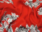Lady McElroy Scarlet Cluster Polyester Georgette Dress Fabric