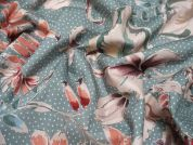 Lady McElroy Showering Vine Cotton Poplin Dress Fabric