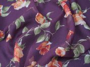 Lady McElroy Sofia Rose Silk Chiffon Dress Fabric