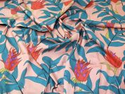 Lady McElroy Tropical Stems Cotton Poplin Dress Fabric