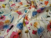 Lady McElroy Watercolours Cotton Poplin Dress Fabric