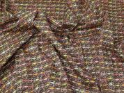 Liberty Cotton Lawn Fabric  Brown Pink Ochre