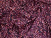 Lady McElroy Hearts Cotton Poplin Fabric  Plum