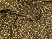 Liberty Floral Cotton Fabric  Khaki
