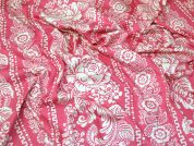 Lady McElroy Cotton Jersey Knit Fabric  Pink