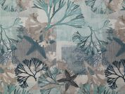 Digital Print Cotton Fabric  Teal