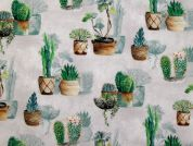 Agave Digital Print 100% Cotton Dress Fabric  Green