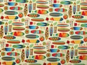Hossegor Digital Print 100% Cotton Dress Fabric  Multicoloured