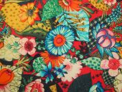 Lorena Digital Print 100% Cotton Dress Fabric  Multicoloured
