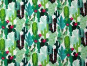 Cactus Digital Print 100% Cotton Dress Fabric  Green