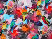 Watercolor Digital Print 100% Cotton Dress Fabric  Multicoloured