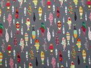 Anchois Digital Print 100% Cotton Dress Fabric  Multicoloured
