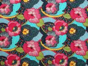 Hawai Digital Print 100% Cotton Dress Fabric  Multicoloured