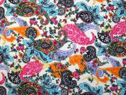 Premia Digital Print 100% Cotton Dress Fabric  Multicoloured