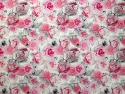 Dione Digital Print 100% Cotton Dress Fabric  Pink