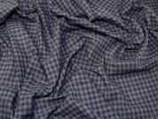 Woven Plaid Check Cotton Voile Dress Fabric  Black & Grey
